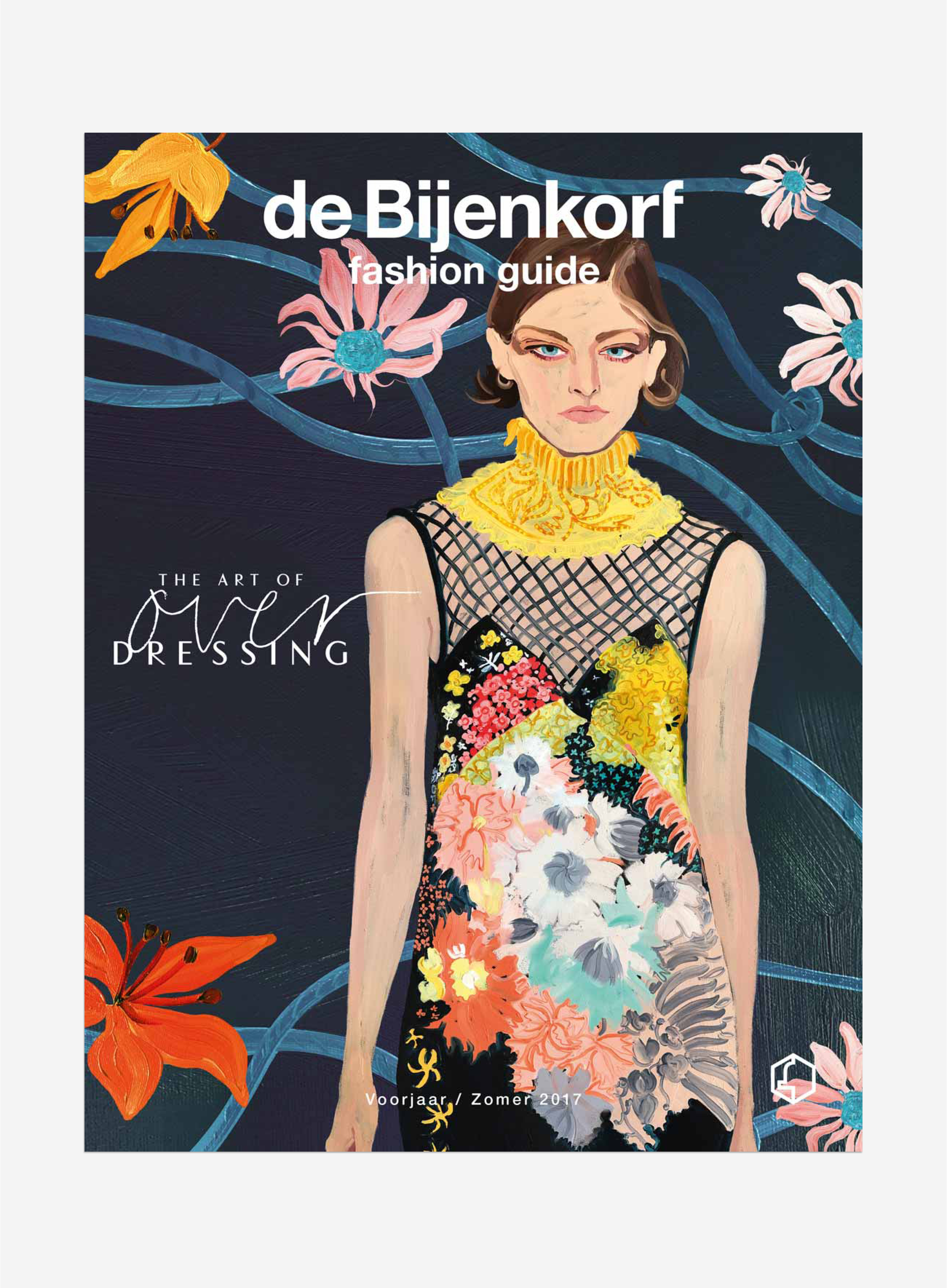 de Bijenkorf editorial magazine layout fashion cover