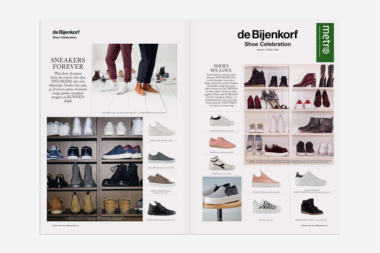de Bijenkorf editorial magazine layout fashion