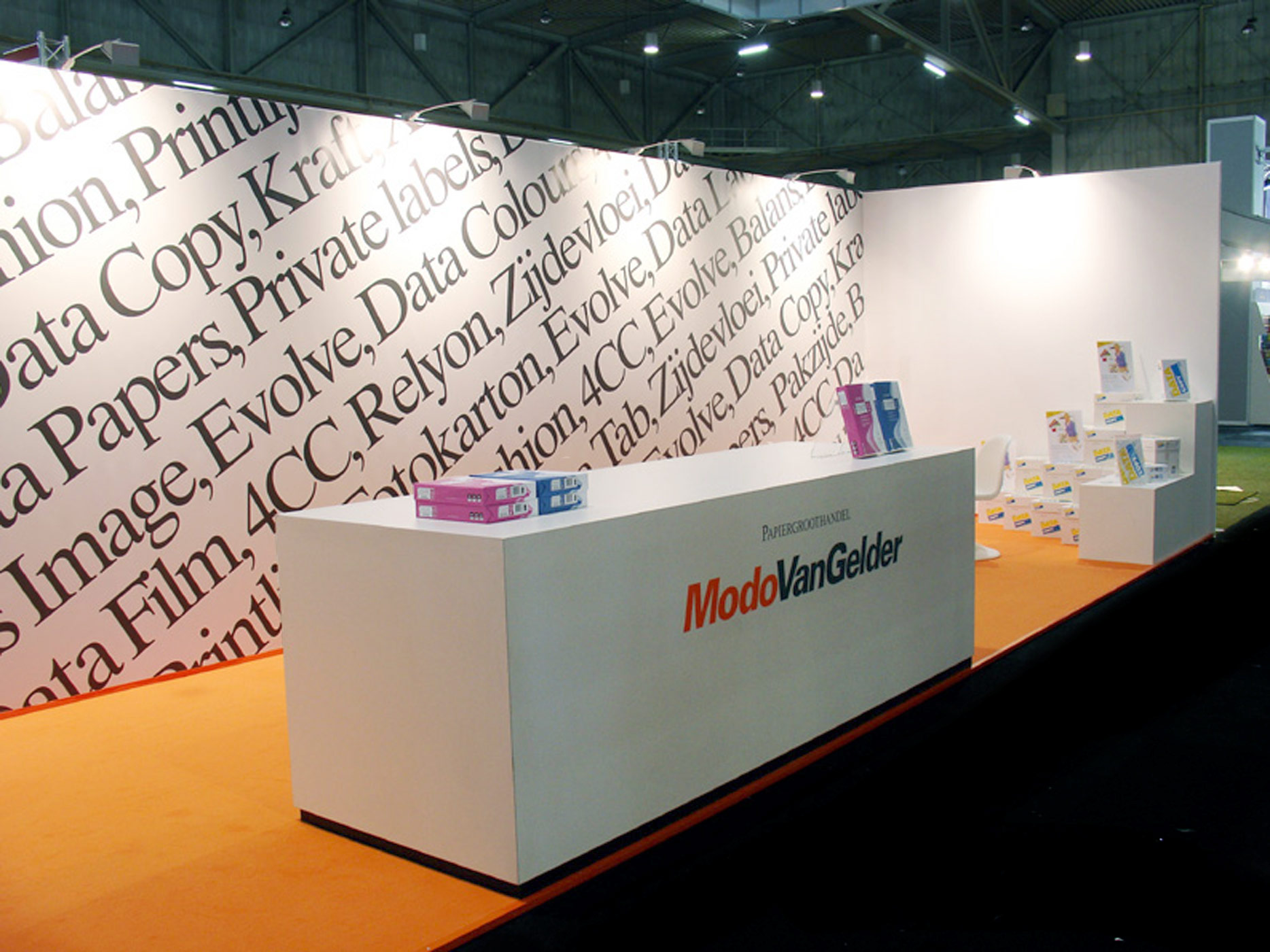 ModoVanGelder, paper, event, graphic design, stand