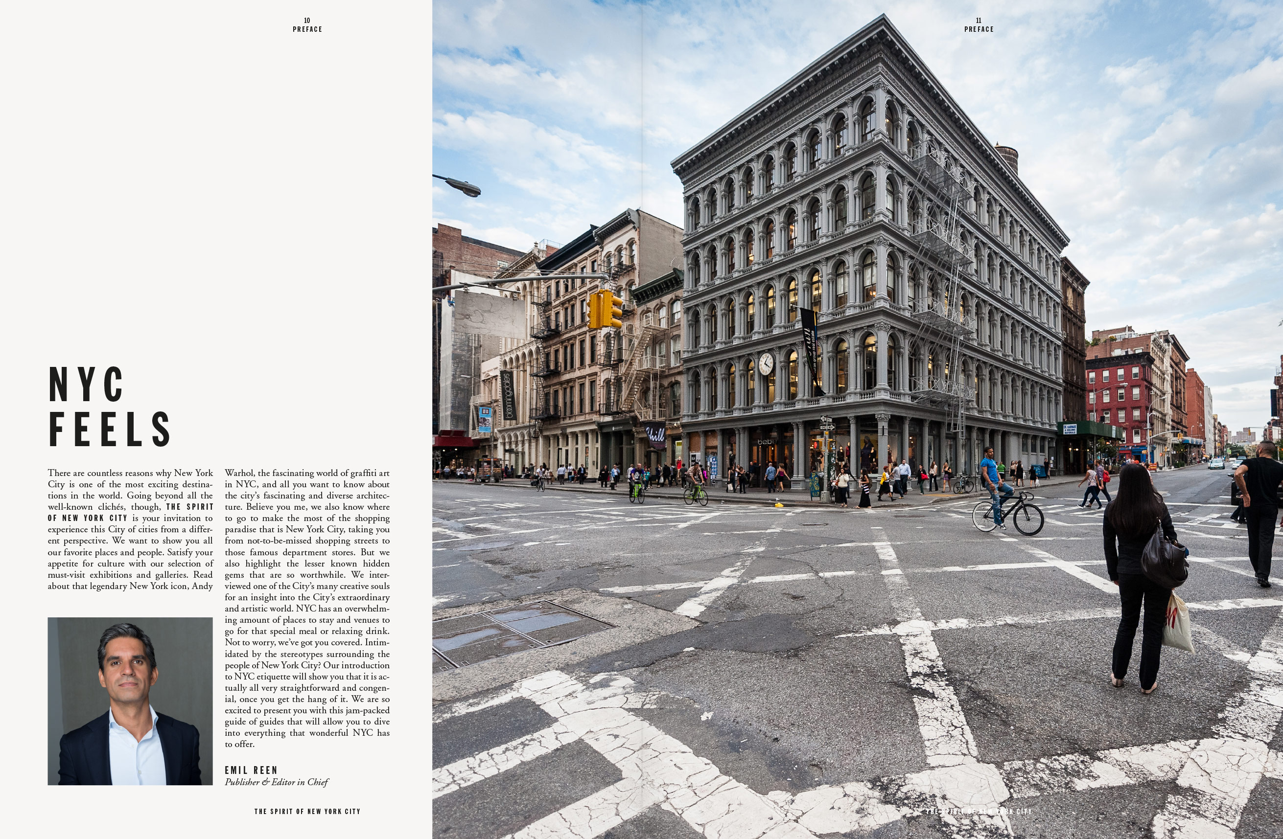 The spirit of new york city, magazine, editorial design