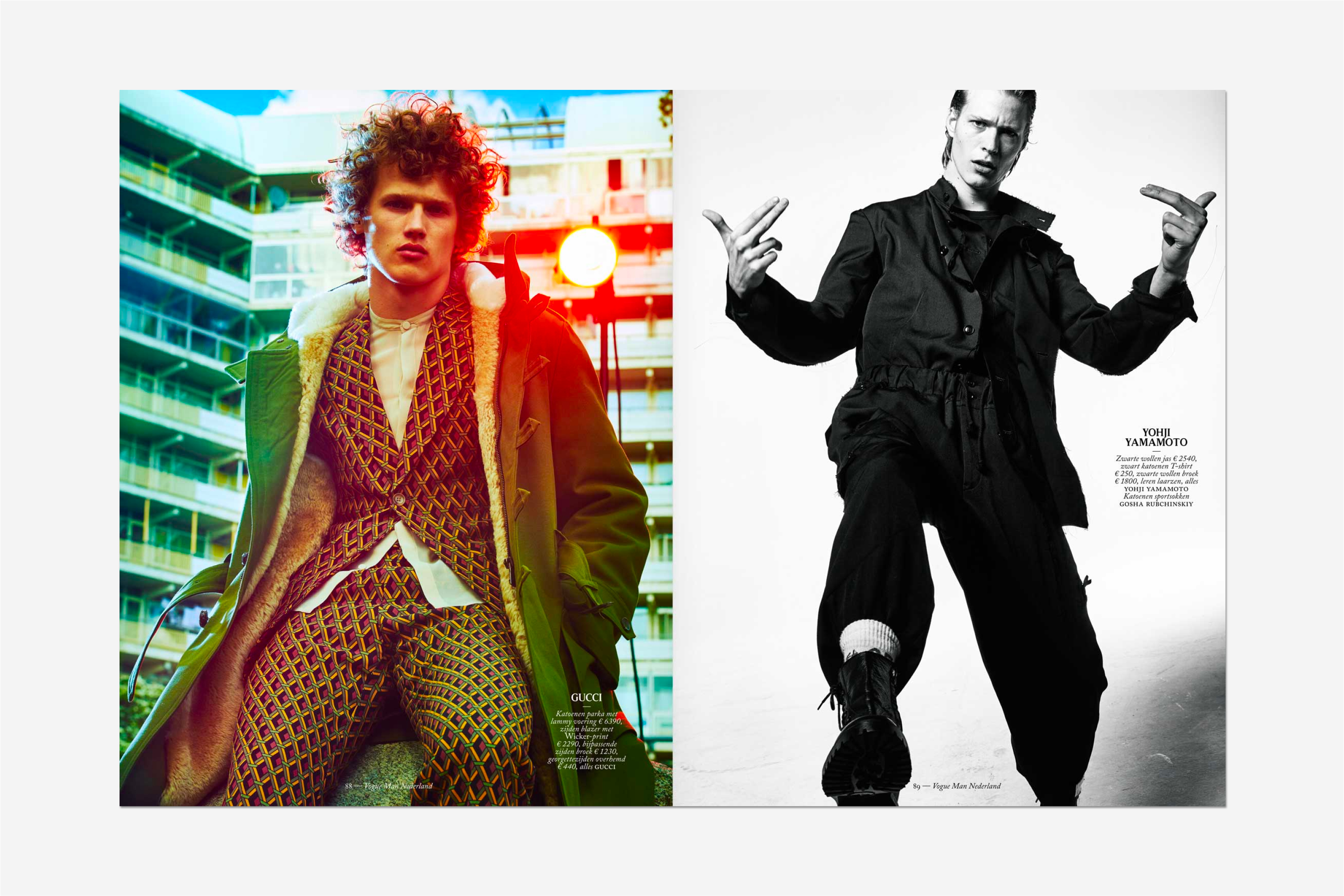 Vogue man, magazine, editorial design, fashion