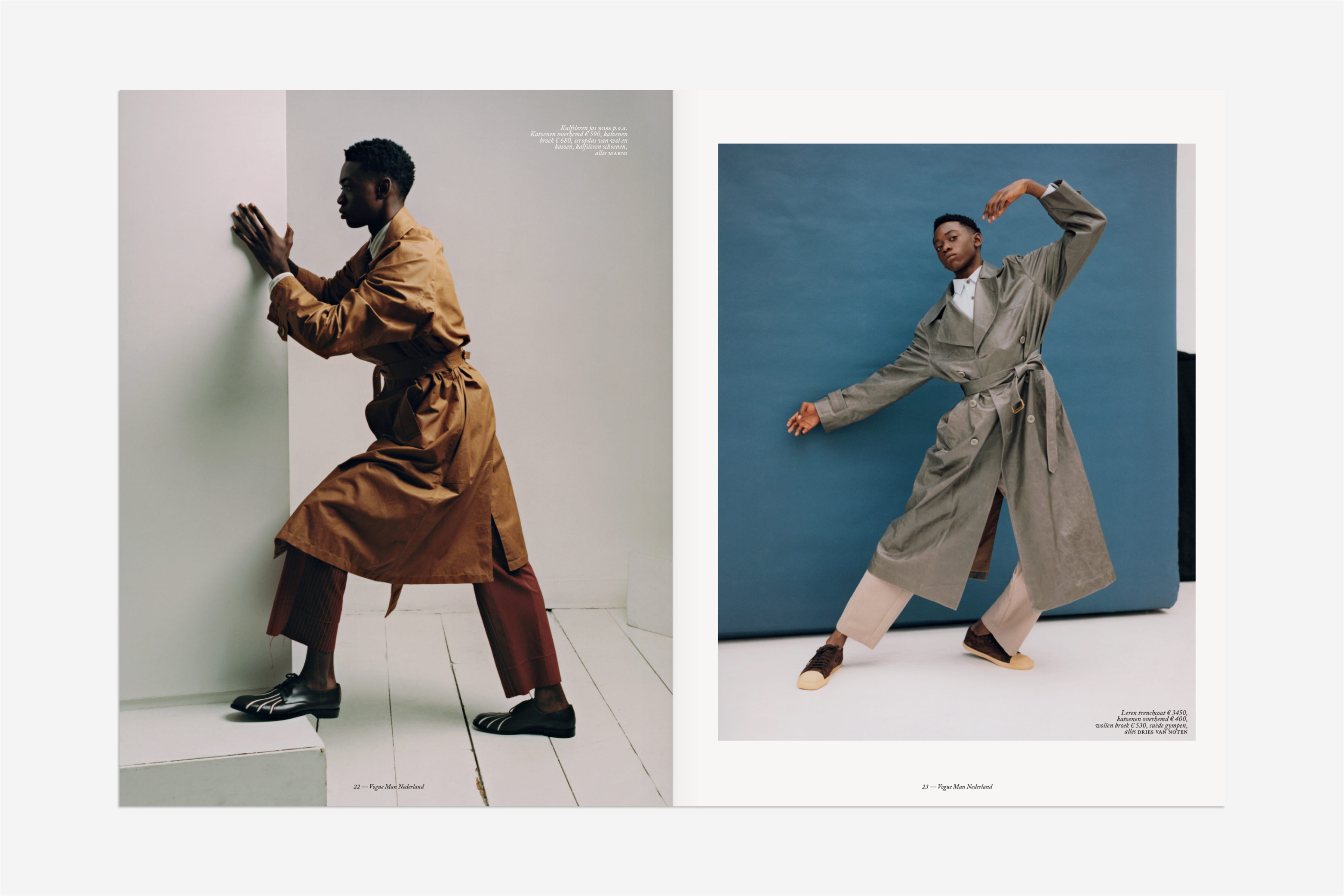 Vogue man, magazine, editorial design