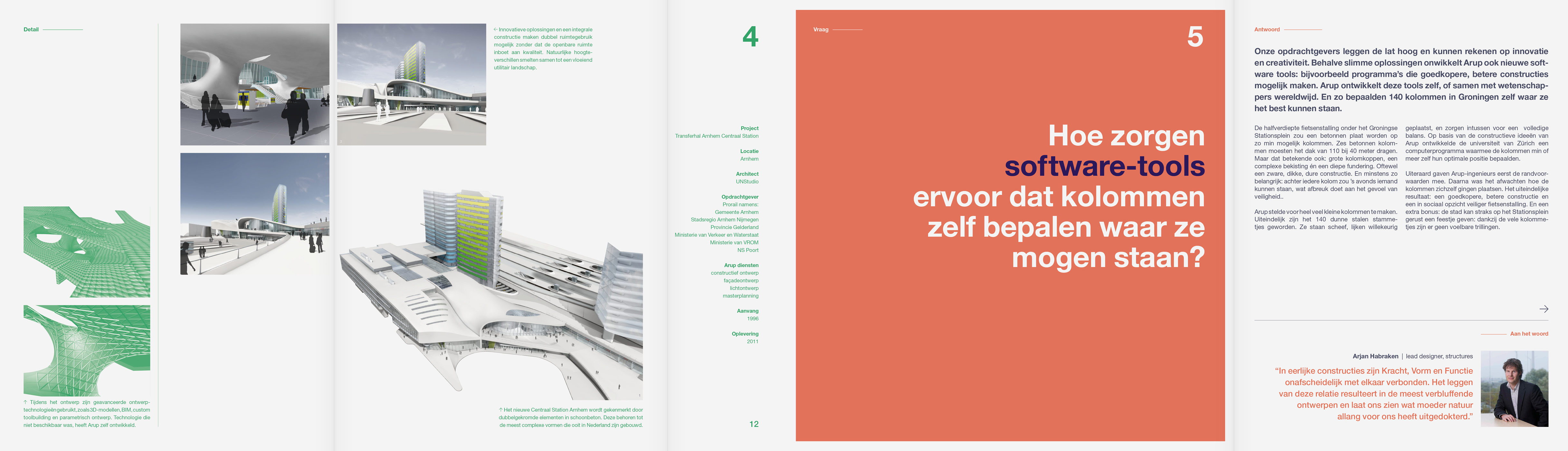 Arup, architecture, graphic design, brochure, concept, art direction