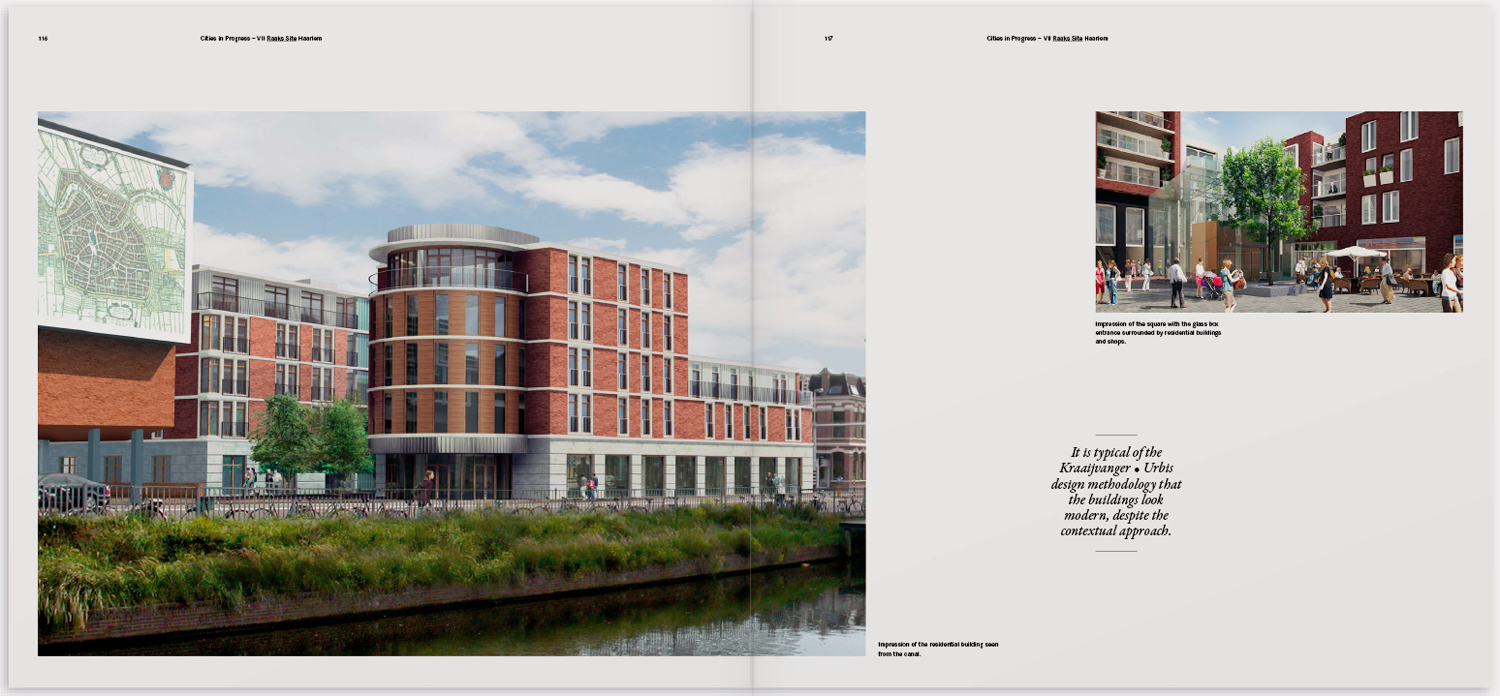 Kraaijvanger Urbis, book design, typography, architecture, cities in progress