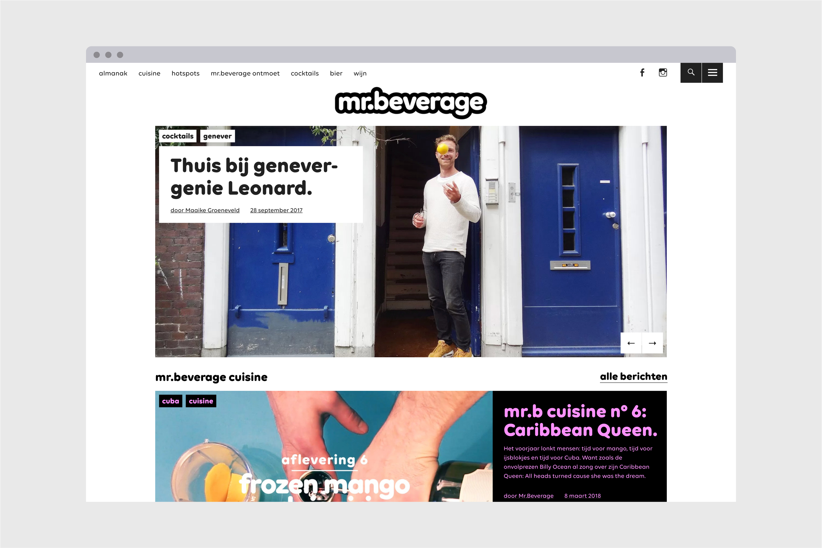 mr.beverage, website, webdesign