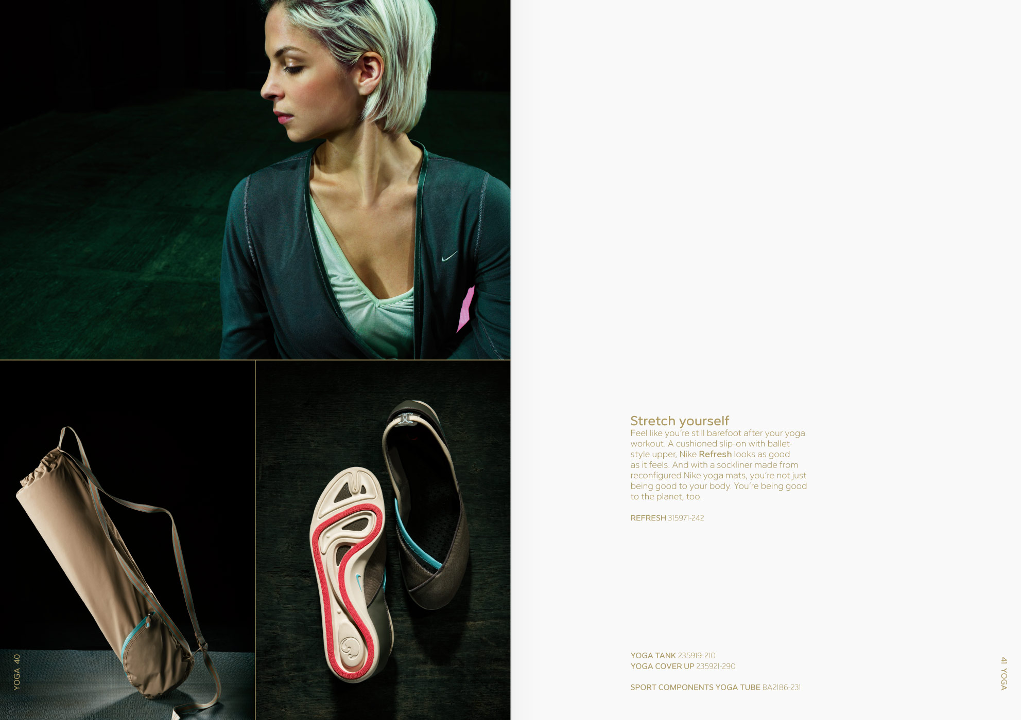 Nike women, brochure, graphic design, art direction