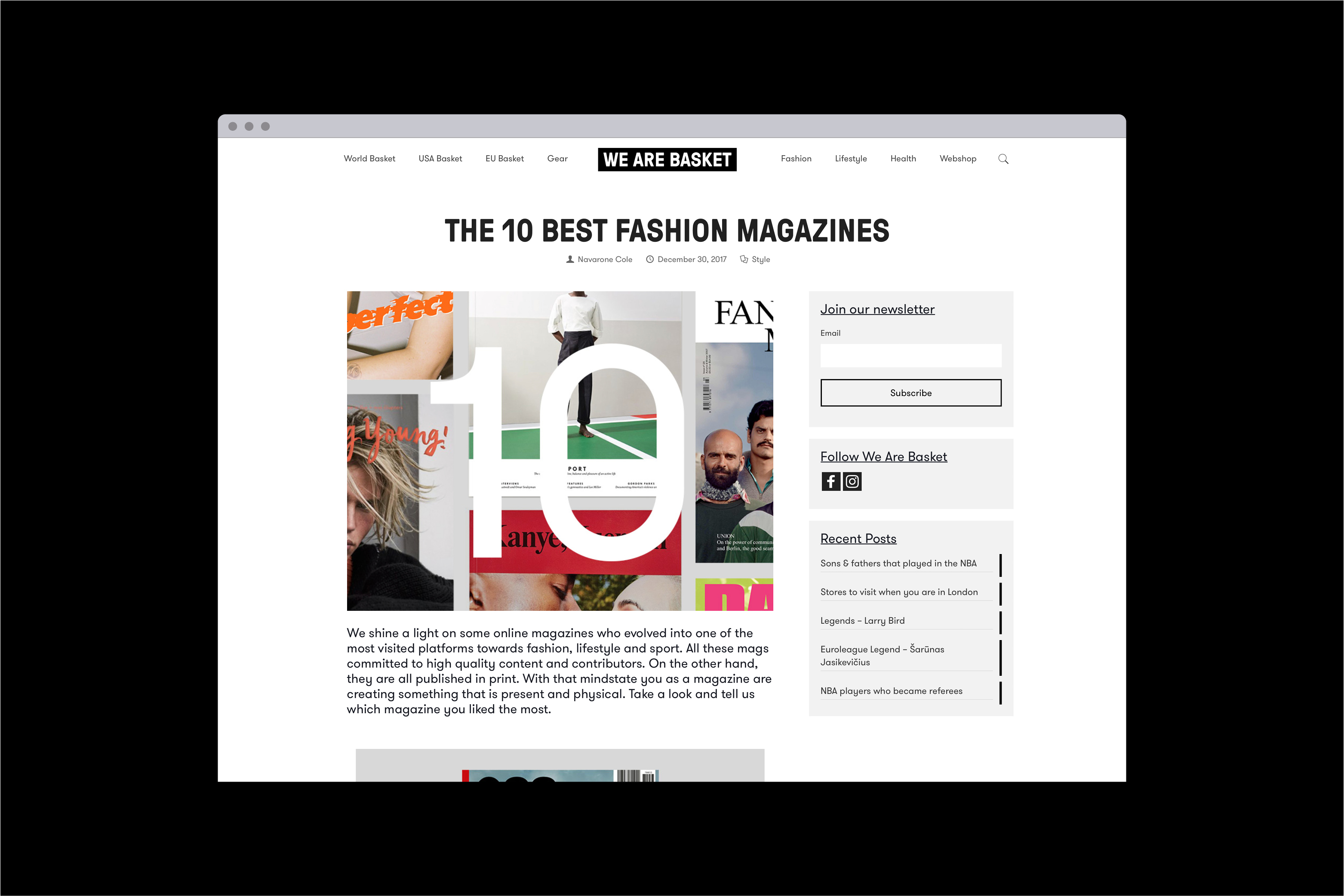 we are basket, online magazine, webdesign