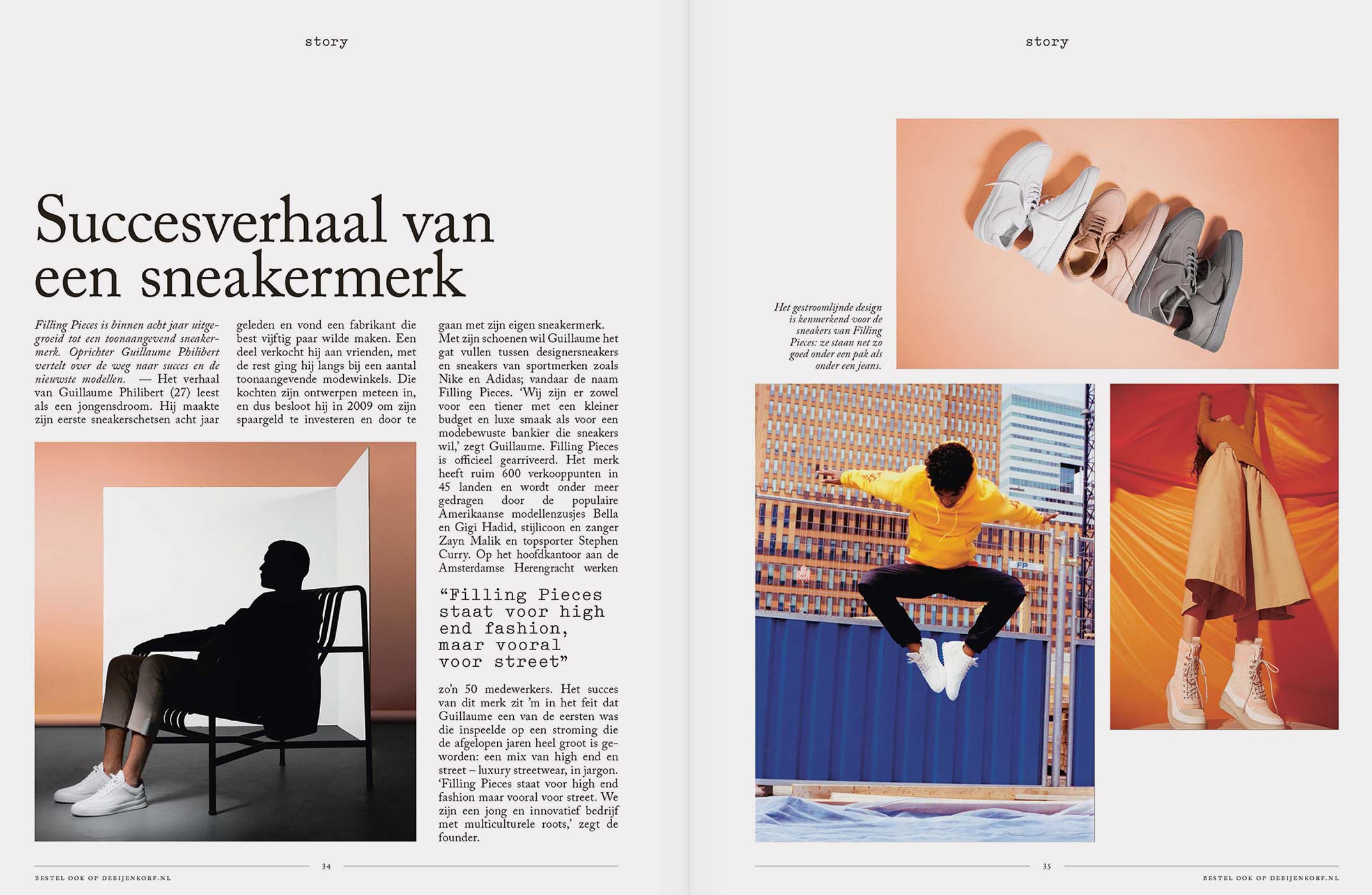 de Bijenkorf editorial magazine layout