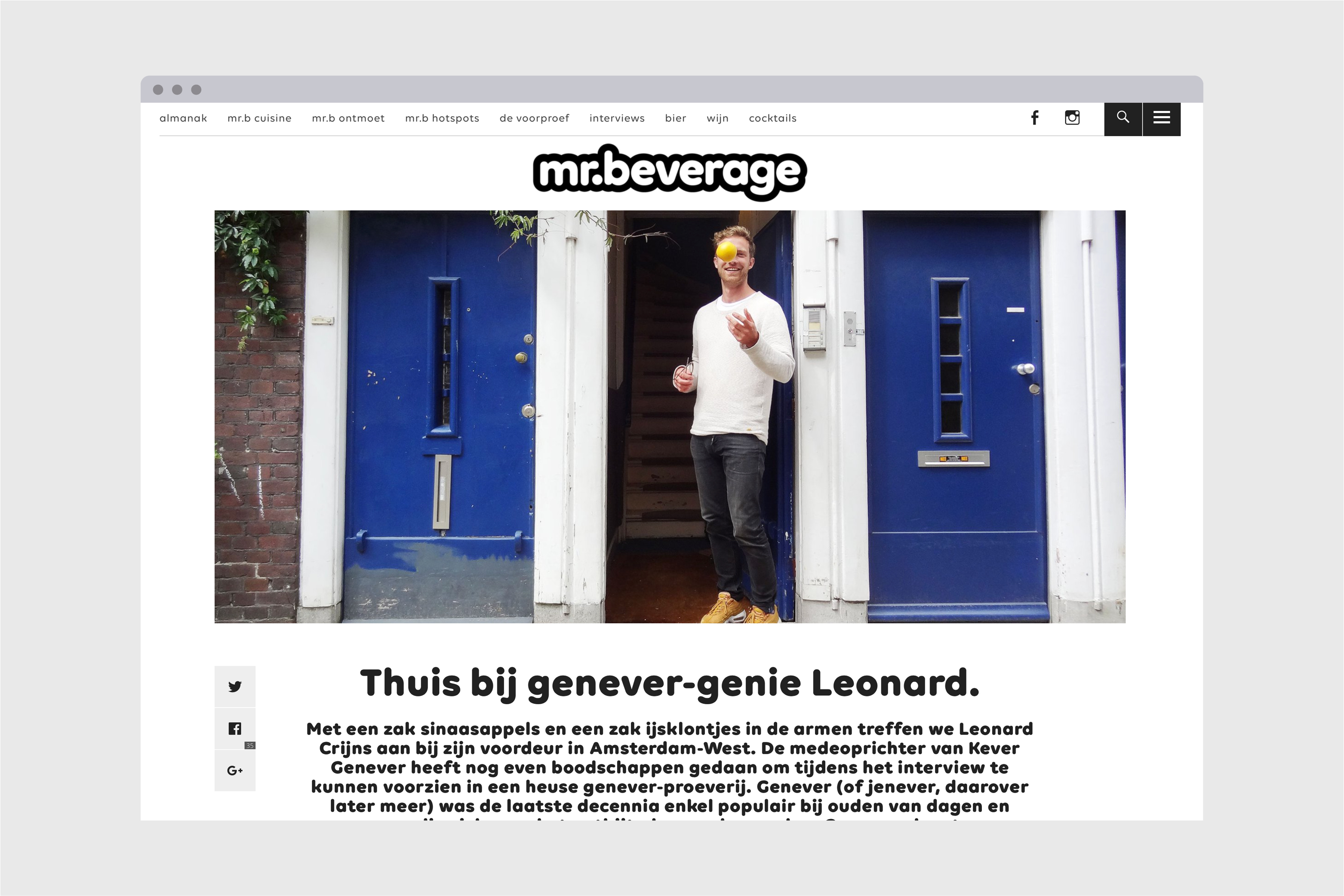 Mr. Beverage webdesign website